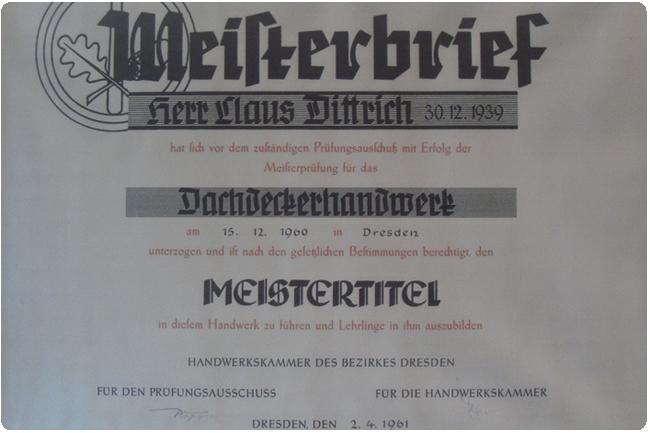 1961 » Claus Dittrich, übernimmt 21-jährig den großväterlichen Betrieb auf der Fritz-Reuter-Straße von seinem Onkel Georg